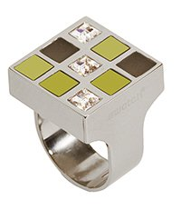 JRJ0001-8 Prismatic Champagne And Crystals Ring