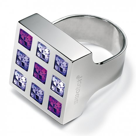 Swatch Bijoux Prismatic Purple Crystals Ring Anéis