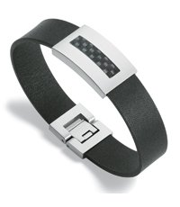 JBB013-L Truly Surface Black Bracelet